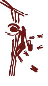 Raccolta del miele dipinta in una caverna preistorica